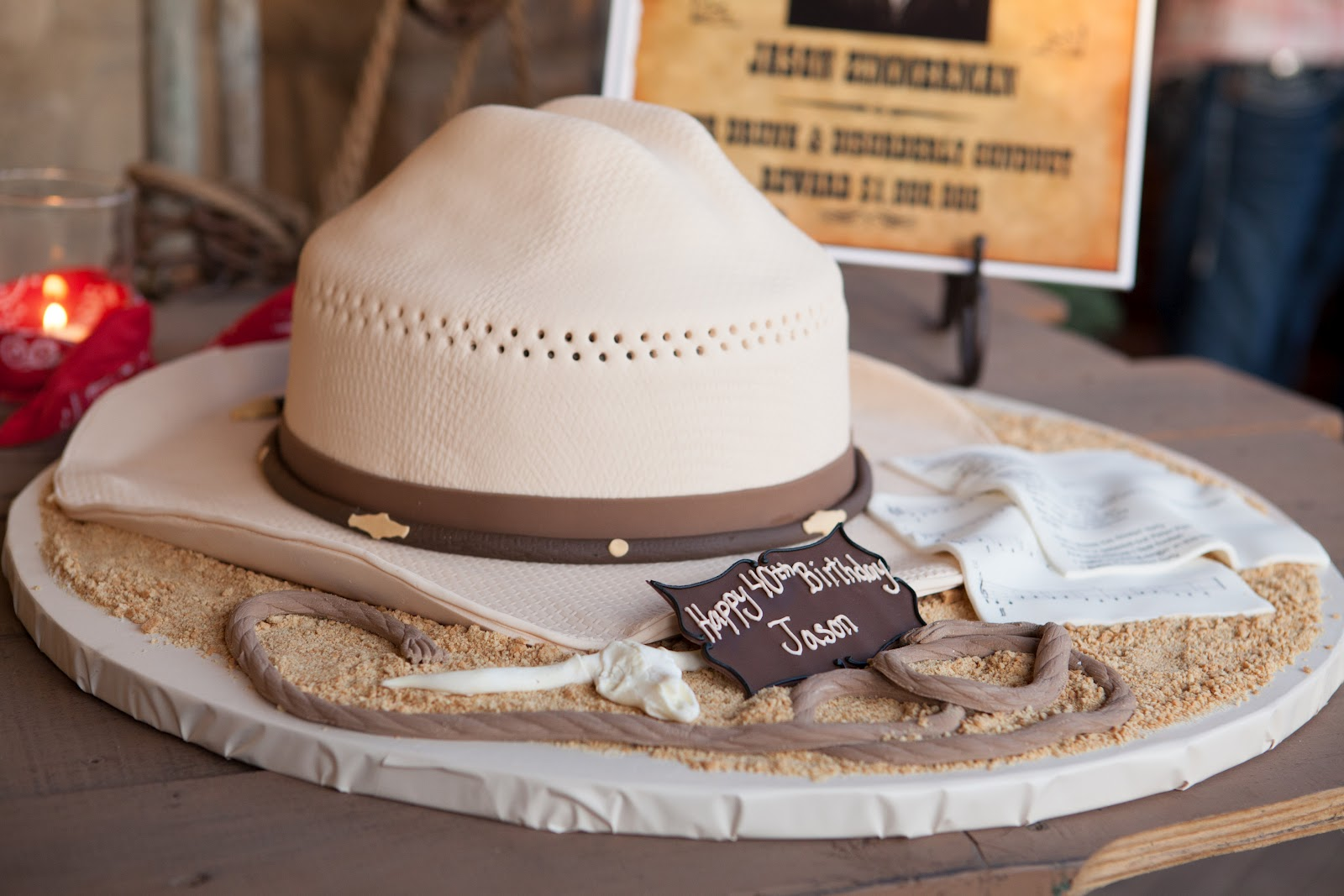 Its All About The Cake Cowboy Hat Cake