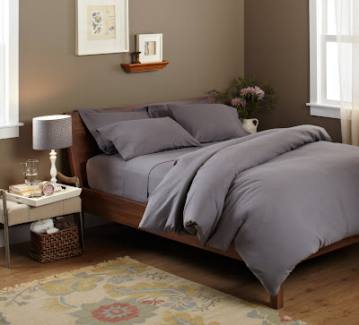 soft grey duvet cover