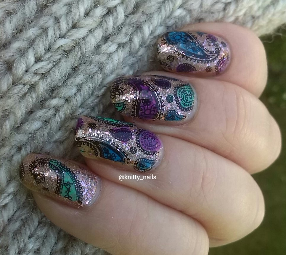 reverse stamping with Messy Mansion MM48