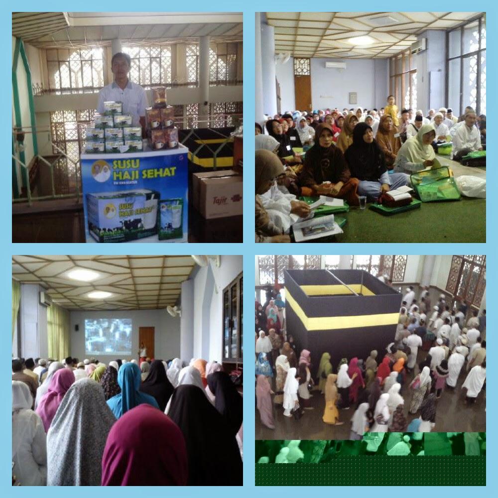 Edukasi kesehatan kepada calon jama'ah Haji KBIH As-Salam Gunung Putri Citereup Bogor bersama  Susu Haji Sehat