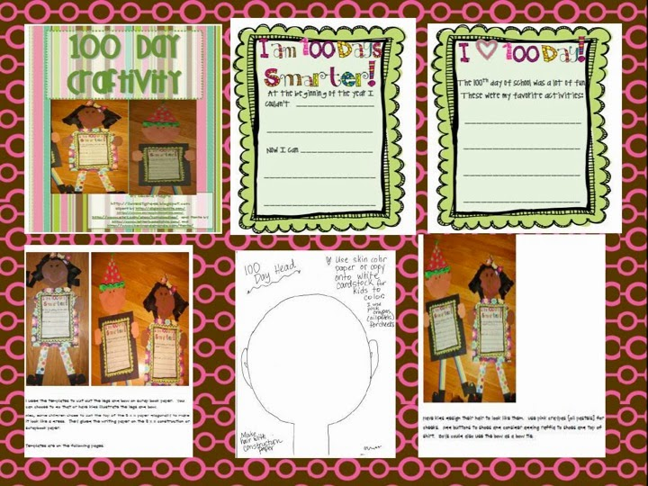 http://www.teacherspayteachers.com/Product/I-Am-100-Days-Smarter-Craftivity-192803