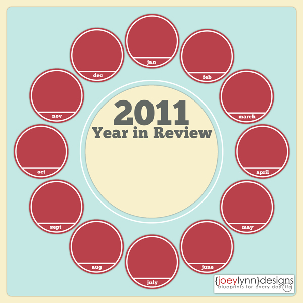 free year in review template