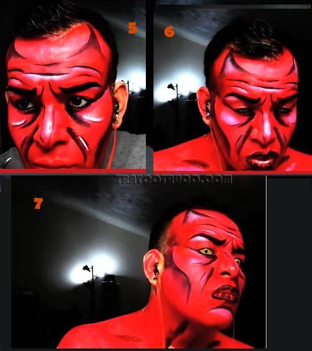 como hacer un maquillaje demonio para halloween