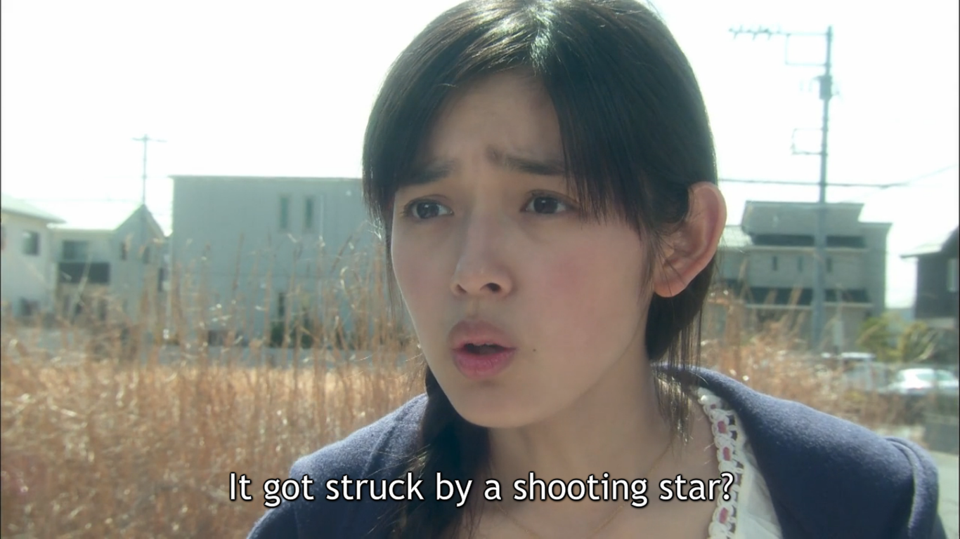 Kotoko reacts to the fact that her house was destroyed by a meteor.