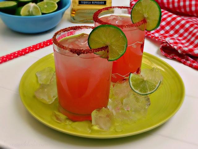 Margaritas de Fresa - lacocinadeleslie.com