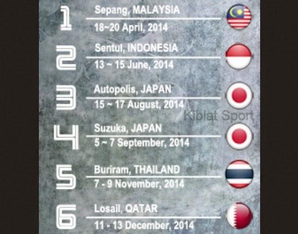 Jadwal ARRC Asia Road Racing Championship 2014