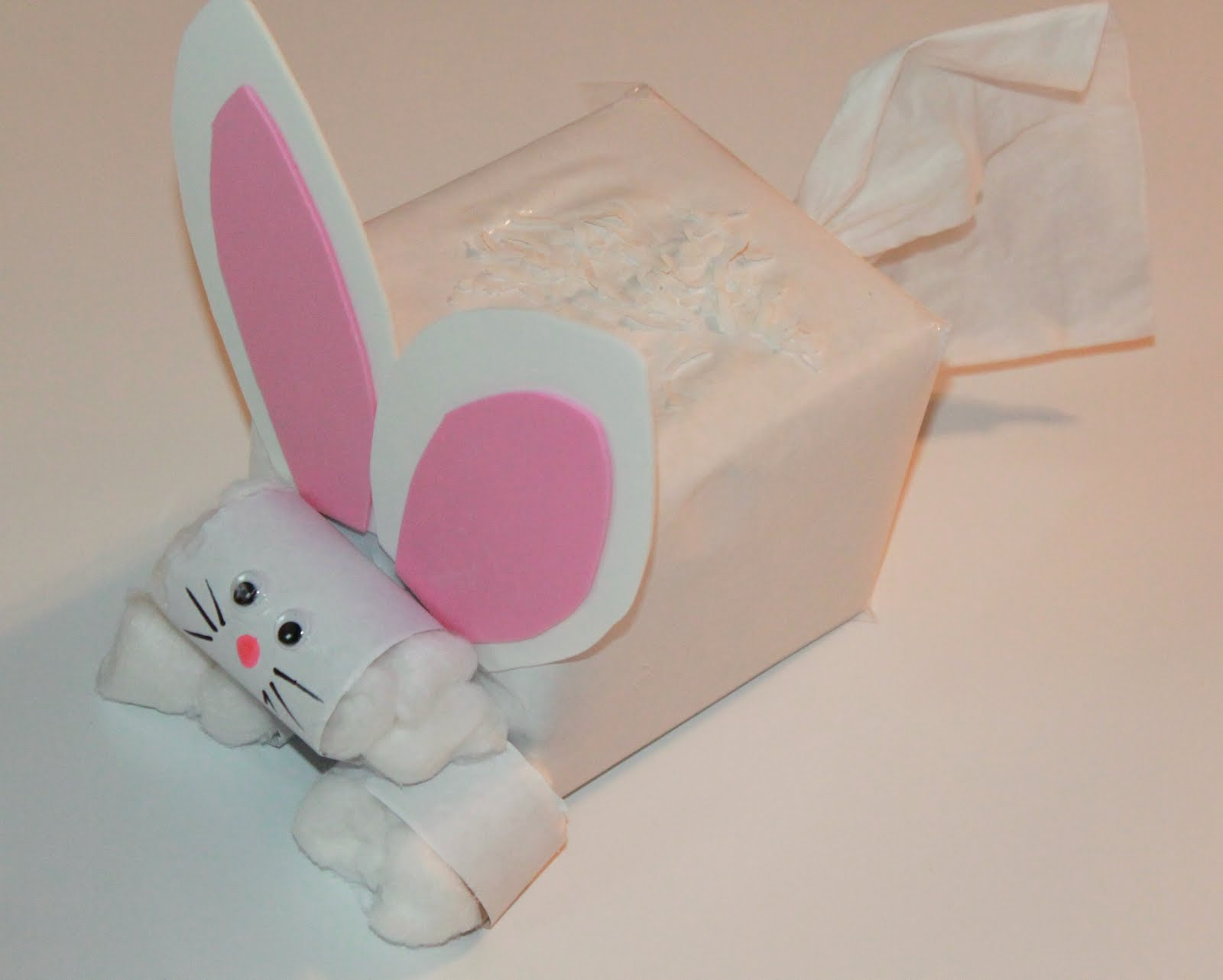 Puffs easter bunny tissue box challenge hands on as we grow