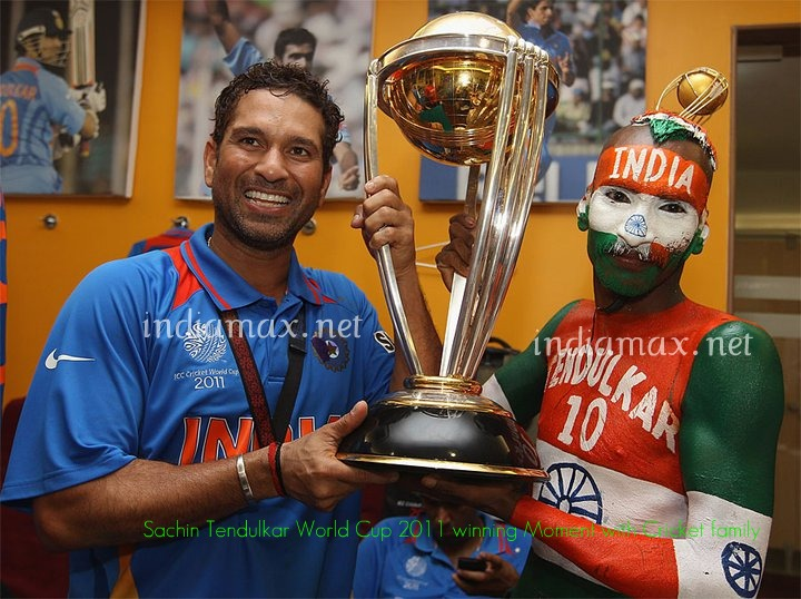 i was alive when india won  Sachin Tendulkar Family Photos World Cup 2011