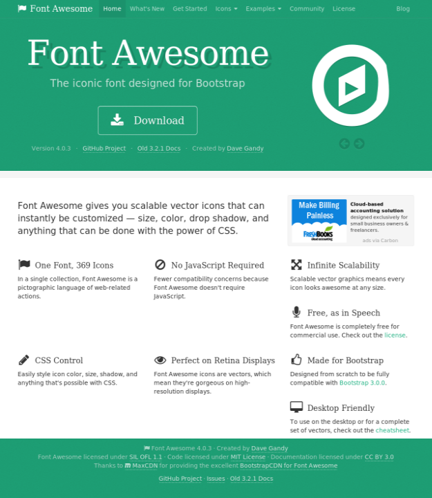 Web Icon Fonts For Web Designers