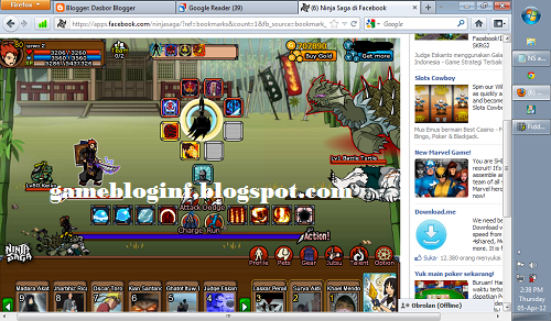 Ninja Saga Easter Event 2012 Hack: Make all the bosses into level 1