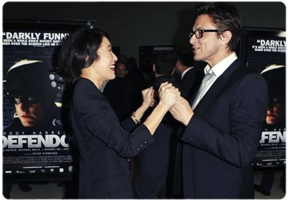 sandra oh with defendor director peter stebbings