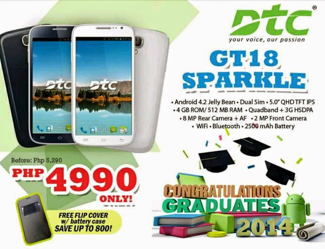DTC GT18 Sparkle Price Drop To Php4,990