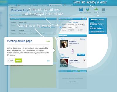 Screenshot, um den Einstieg in RAYNET Cloud CRM zu erleichtern