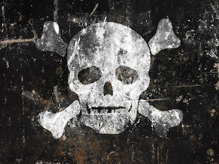 Old Pirate Skull Dark Gothic Wallpaper