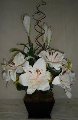 Imagens de Decoração com Vasos de Flores Artificiais