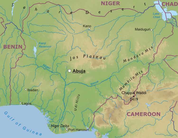 Blatey Nigeria Blog Geography of nigeria