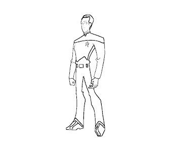 #4 Star Trek Coloring Page