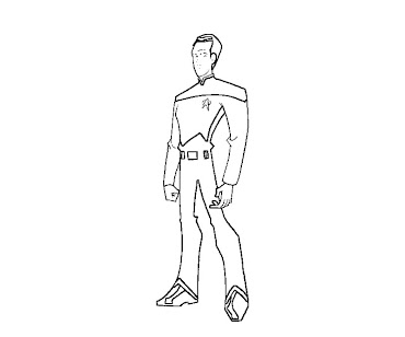 #4 Star Trek Coloring Page