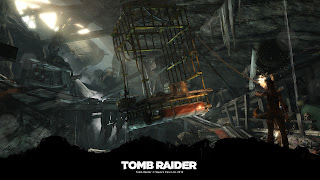 Tapeta z gry Tomb Raider 1920x1080: Lara z pochodnią
