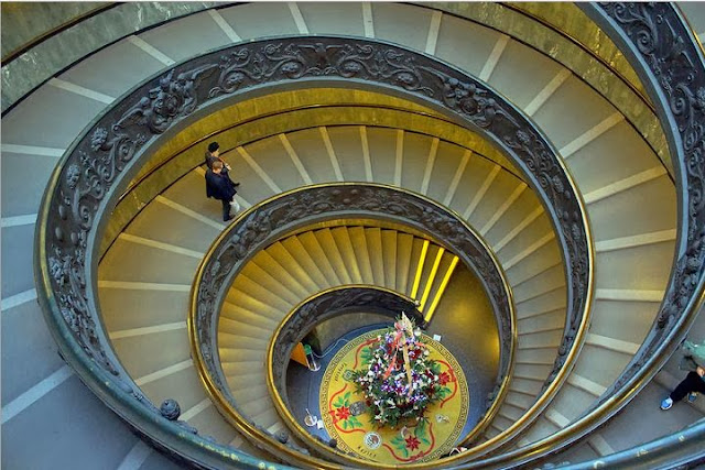 Spiral Staircase in the Vatican Museum