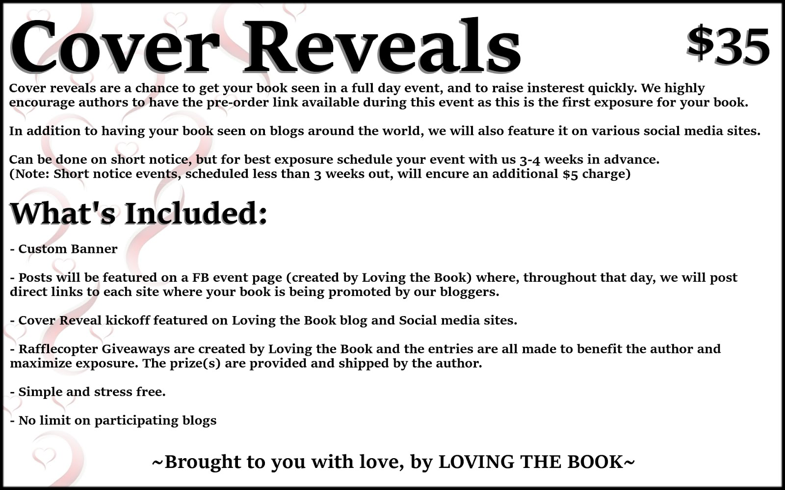 Services ~ Loving the Book Events on customer information template, book about me template, book orders for schools, study guide template, program plan template, book catalog template, about the author template, maintenance work order template, book pre order form, book list template, excel inspection template, events calendar template, book index template, course evaluation template, book fair order form, frequently asked questions template, book table of contents template, office hours template, important dates template, order sheet template,