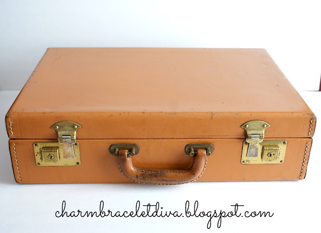 Vintage leather briefcase Rexfiles brand