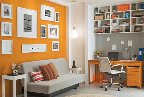 Home Office Na Sala De Tv ~  com três funções homeoffice, quarto de hóspedes e sala de TV