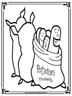 mewarnai gambar sekarung kentang