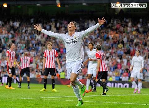 Cris Ronaldo lập Hat - Trick, Real đè bẹp Bilbao