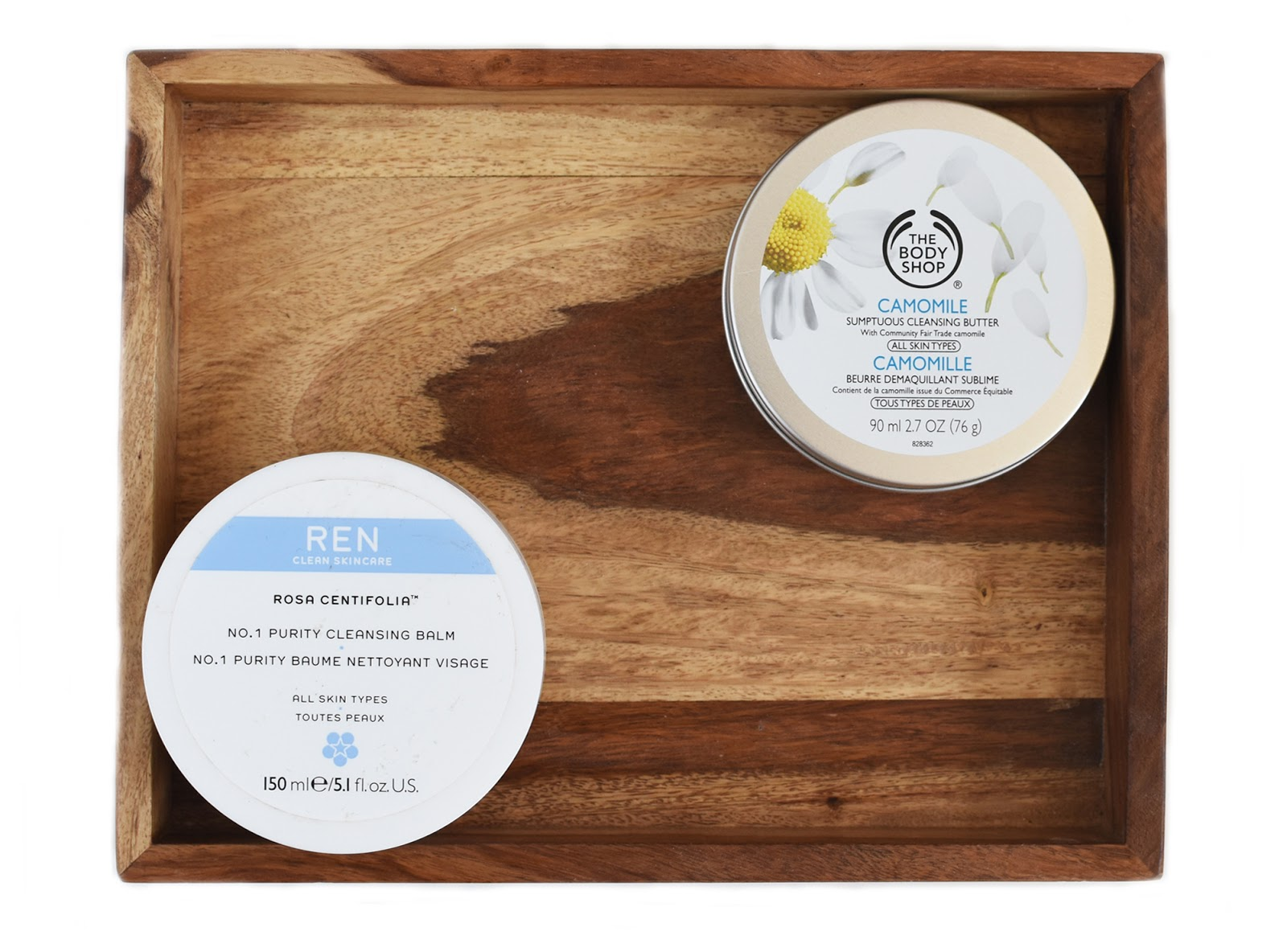 REN's No.1 Purity Cleaning Balm and The Body Shop's Camomile Cleansing Butter