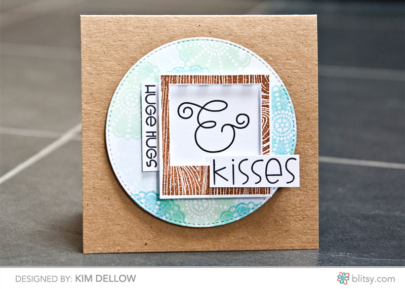 Mix and matching dies and stamps to make a card