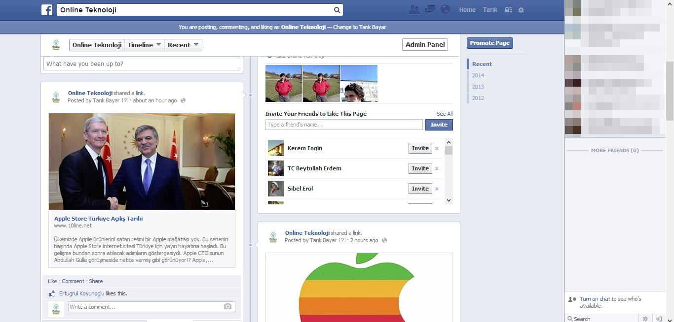 facebook'un yeni tasarımı