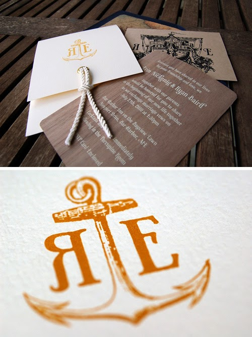 Memorable Wedding Nautical Wedding Invitations