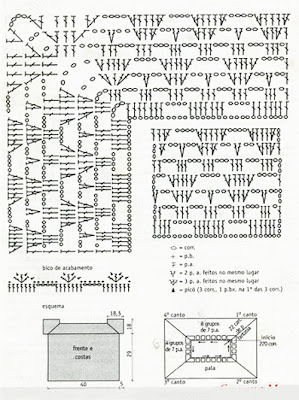 easy crochet from the top-down, crochet schemes, crochet diagrams