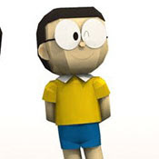 Doraemon, Nobita Papercraft Model Free