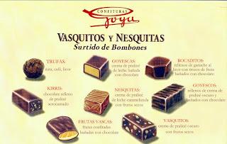 Vasquitos y nesquitas típicos de Euskadi