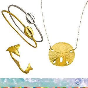 Beach-themed jewelry from Tiffany Chou at Max&Chloe!