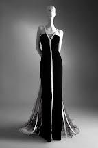 Black Velvet Evening Dress