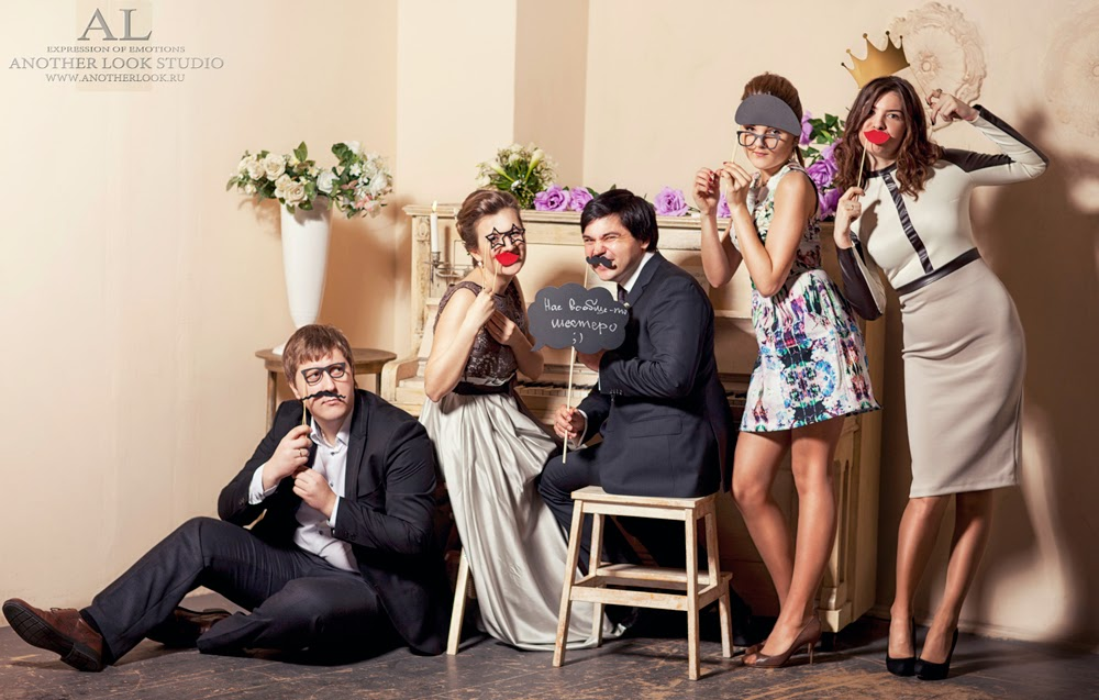 Дружная свадебная фотография