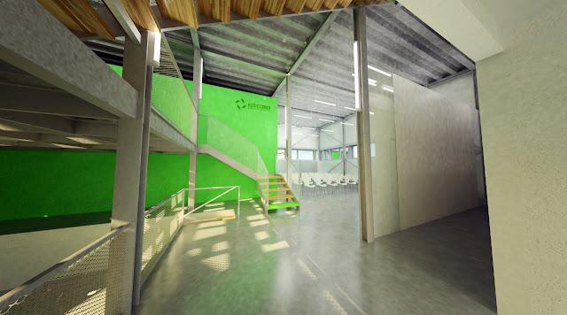 Atrium, Košice, Výmenník, Važecká, EHMK 2013, interiér