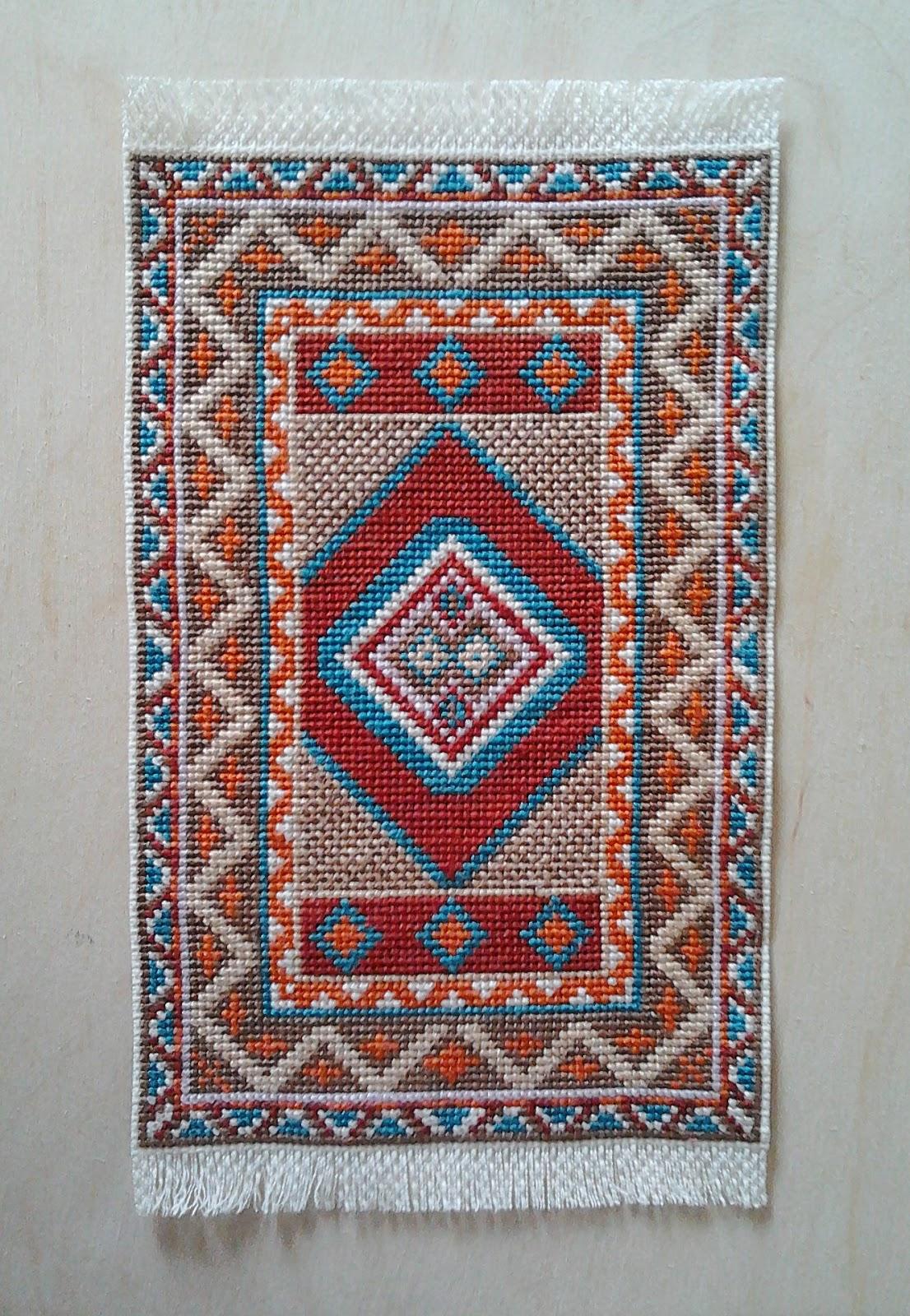 Крестик вышивка ковров схемы