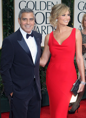 George Clooney and Stacy Keibler at the 69th Annual Golden Globe Awards in Beverly Hills