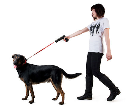 Retractable Dog Leash With Built In Dog Training Clicker