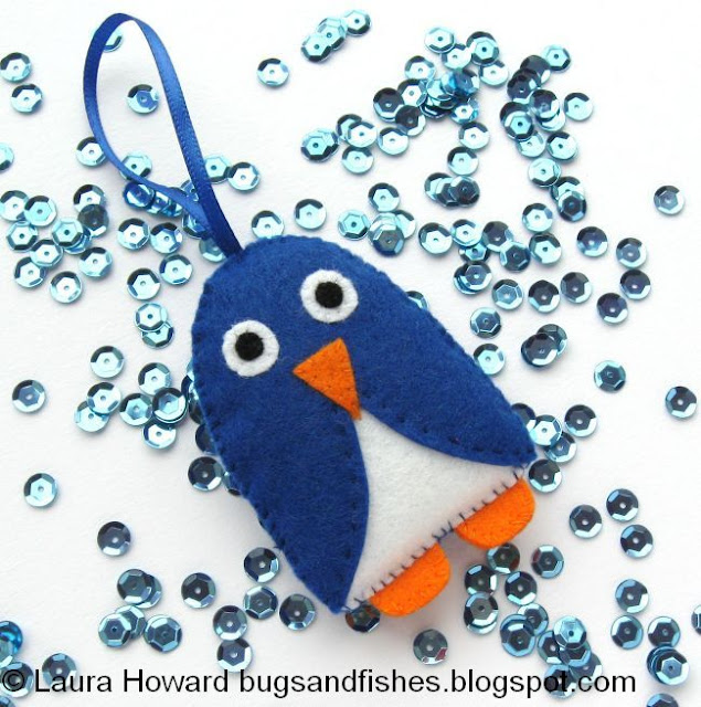http://bugsandfishes.blogspot.co.uk/2014/07/christmas-in-july-felt-penguin-ornament.html