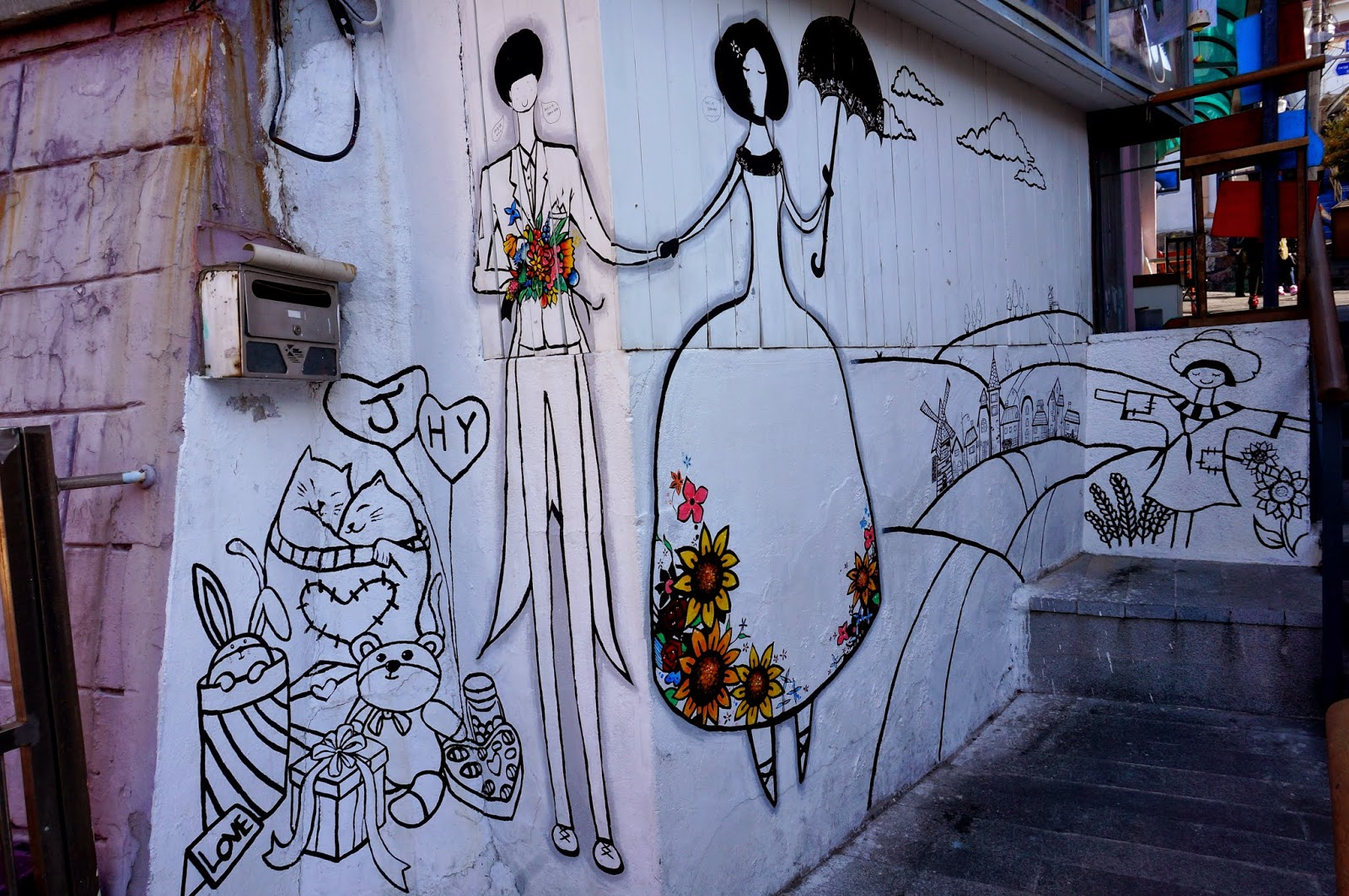 The misty city street gallery in ihwa mural village for Mural village