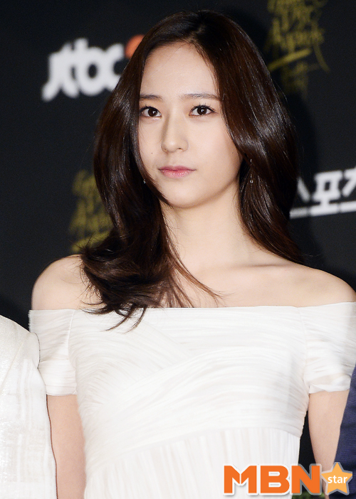 fx krystal at golden disc awards red carpet