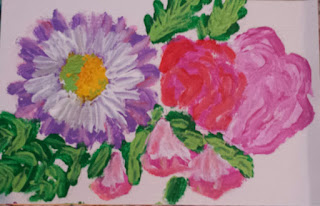 finger painted flowers 2