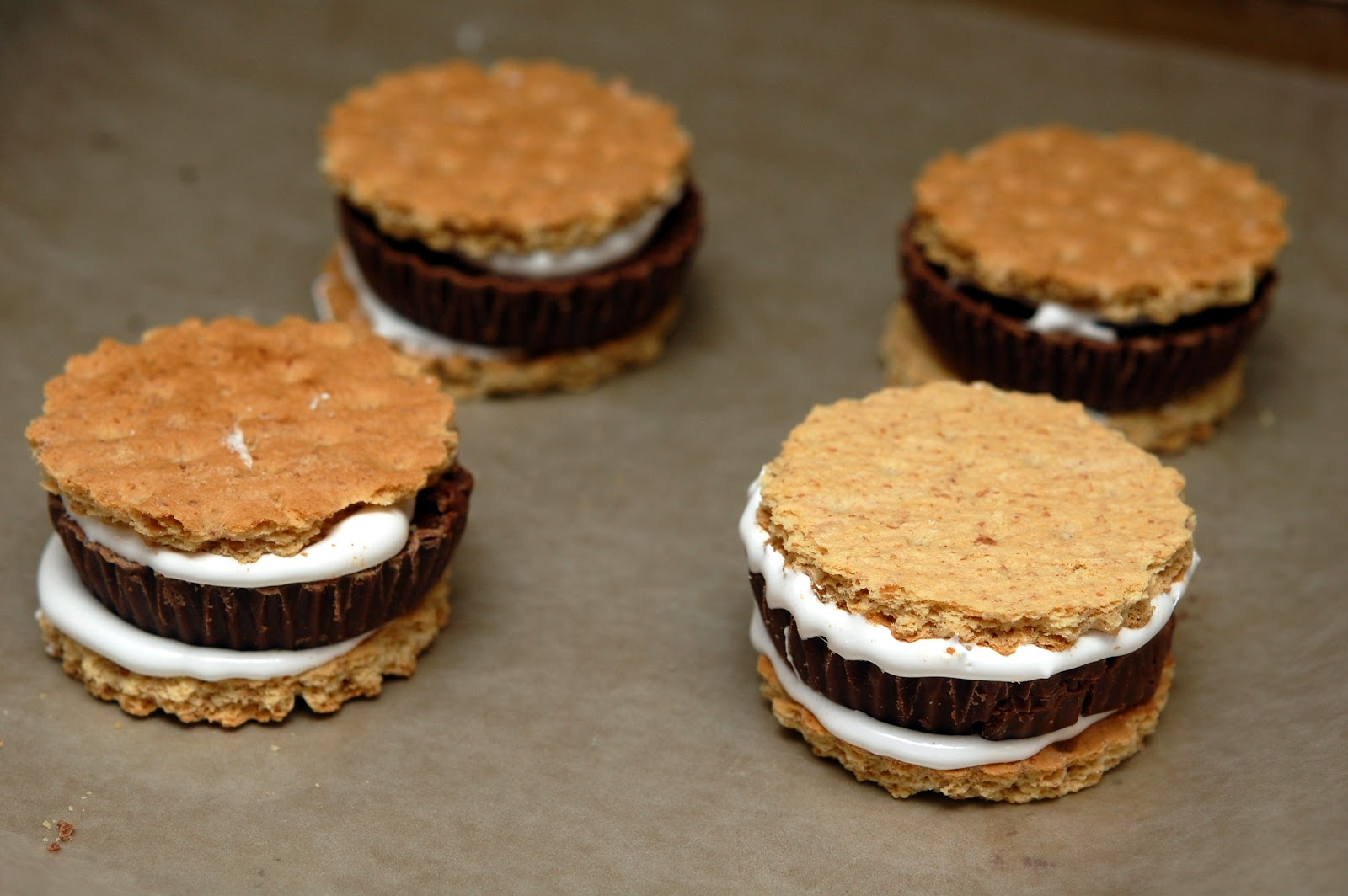 CHOCOLATE DIPPED PB CUP S'MORE - Hugs and Cookies XOXO