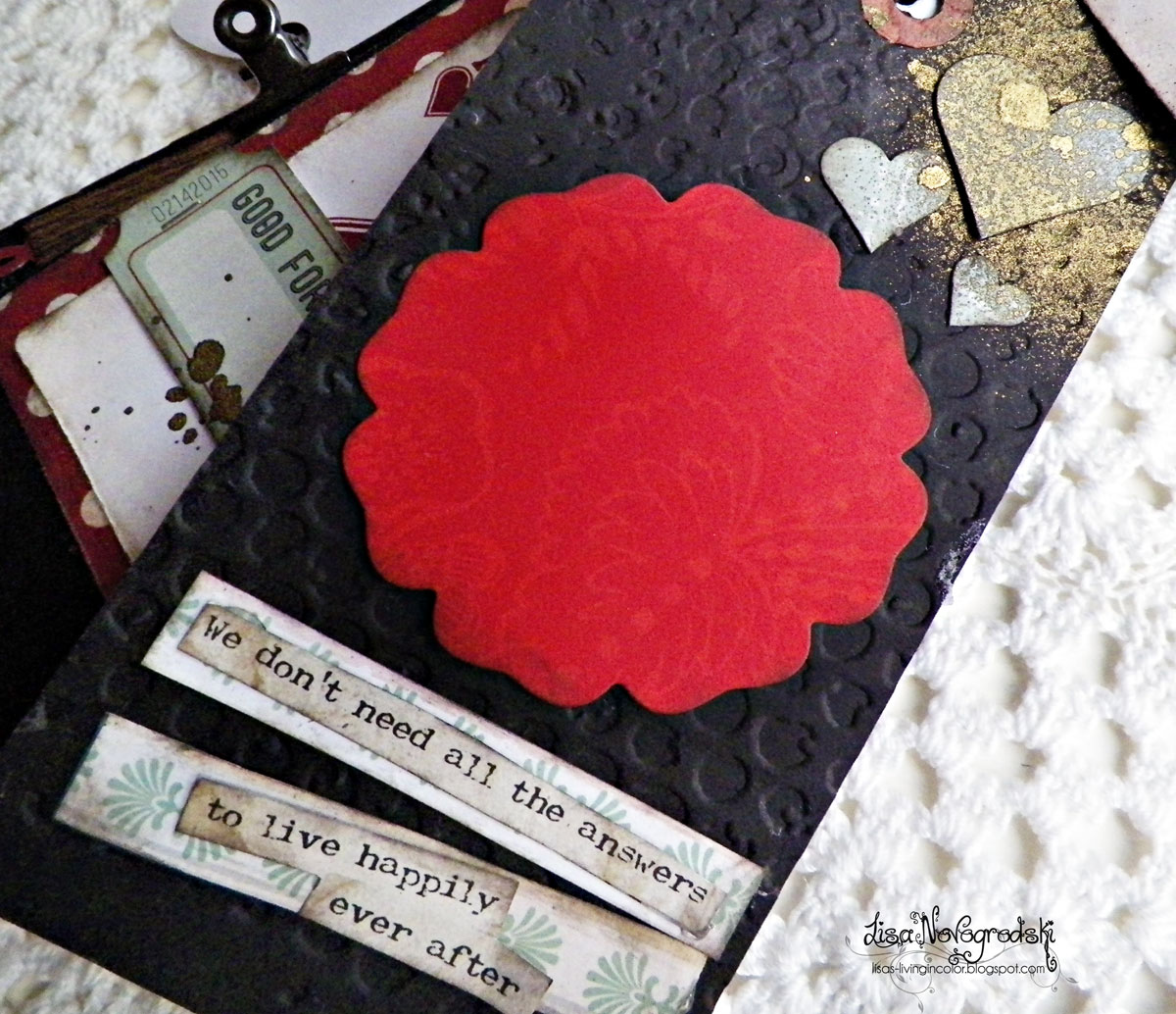 Tag Mini Album Close Up Tag by Lisa Novogrodski for Bobunny using the Star Crossed collection