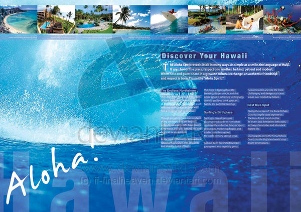 Brochure Samples Pics: Brochure Of Hawaii